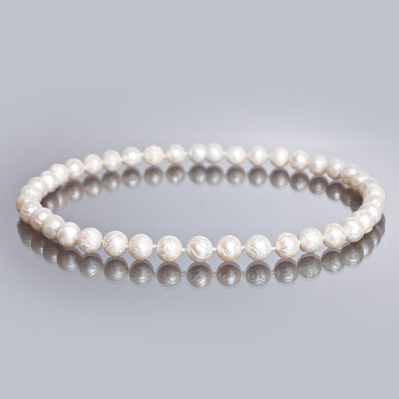 Galatea Carved Pearl Necklace