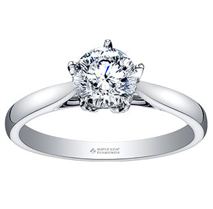 Maple Leaf Canadian Diamond Engagement Ring