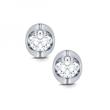 14kt White Gold .33ct tw Diamond Stud Earrings
