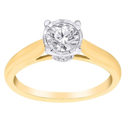 Promise Rings - Yellow Gold Solitaire