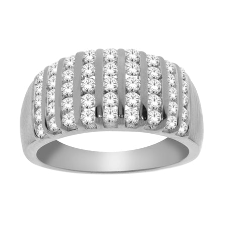 1.00ct White Gold Channel Set Diamond Band