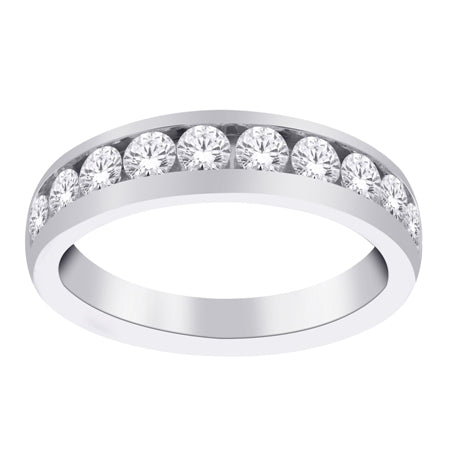 White Gold 1.00ct Diamond Channel Band