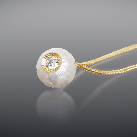 Galatea Diamond in a Pearl Necklace
