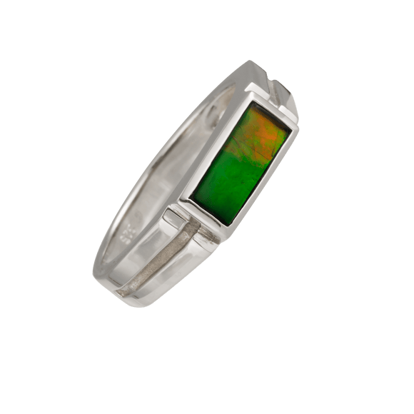 Modern 925 Sterling Silver Blair Ring by Korite Ammolite