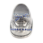 Pewter Trinket Baby Boy Shoebox - ENGRAVABLE