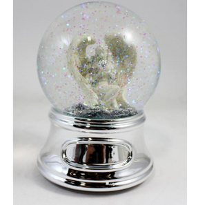 Musical Guardian Angel Snowglobe  - ENGRAVABLE