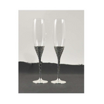 Wedding Champagne Flutes - Crystallized