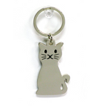 CAT KEYCHAIN - ENGRAVABLE