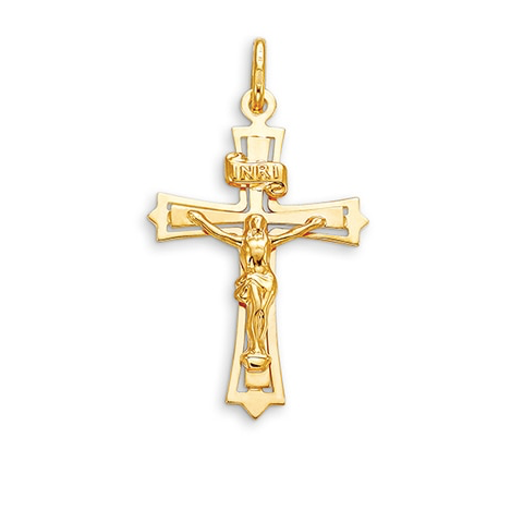Bella Faith Collection - Yellow Gold Crucifix