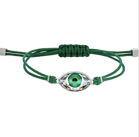 SWAROVSKI POWER COLLECTION EVIL EYE BRACELET, GREEN