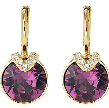 SWAROVSKI - BELLA V PIERCED EARRINGS, PURPLE