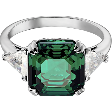 SWAROVSKI - ATTRACT COCKTAIL RING, GREEN