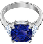 SWAROVSKI - ATTRACT COCKTAIL RING, BLUE