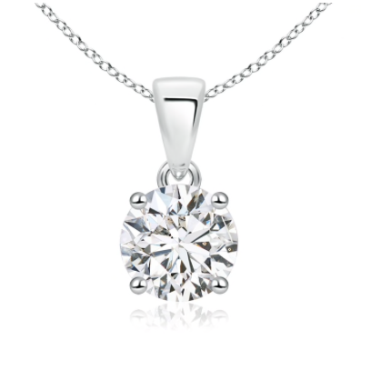 14kt White Gold .10ct Diamond Solitaire Pendant
