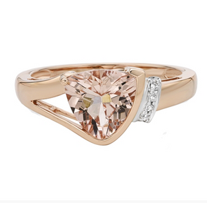 10kt Rose Gold Morganite & Diamond Ring