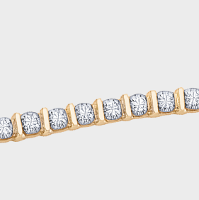 2.00ct tw Yellow Gold Diamond Tennis Bracelet