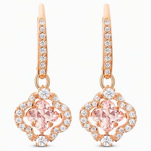 SWAROVSKI SPARKLING DANCE CLOVER PIERCED EARRINGS