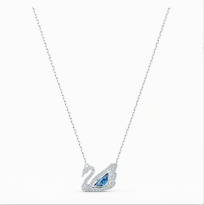 SWAROVSKI DANCING SWAN NECKLACE, BLUE