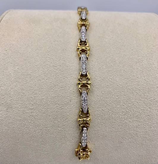 1.25ct Two-Tone Diamond Tennis Bracelet