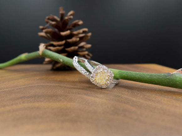 Alfred Sung - 14KT, Yellow Diamond Engagement Set
