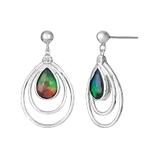 Abigail Sterling Silver Sapphire Earrings by Korite Ammolite