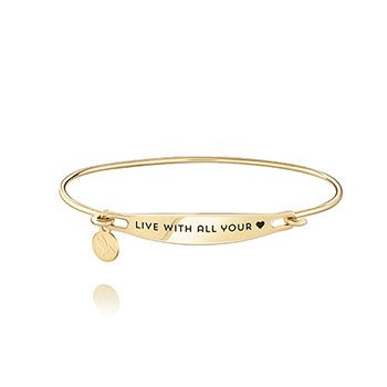 CHAMILIA LIVE WITH ALL YOUR HEART ID GOLD BANGLE