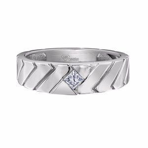Maple Leaf Canadian Diamond Gents Band
