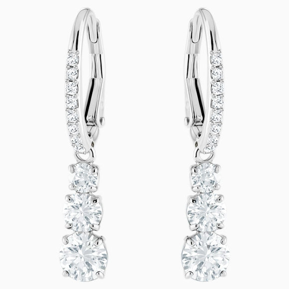 SWAROVSKI -  ATTRACT TRILOGY ROUND PIERCED EARRINGS