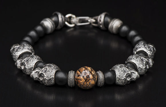 WILLIAM HENRY YUCATAN SKULL BRACELET
