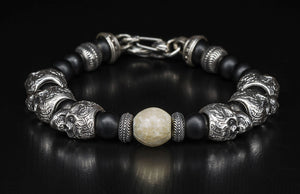 WILLIAM HENRY BB5W SKULL BRACELET