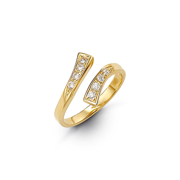 10kt Yellow Gold CZ Mindi or Toe Ring - Adjustable