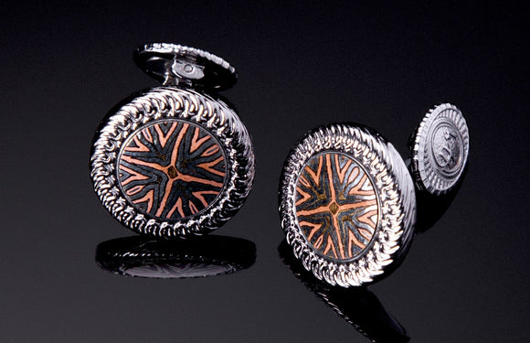 William Henry Mokume Gane Cufflinks