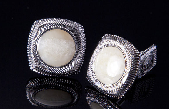 William Henry Woolly Walrus Tusk Cufflinks