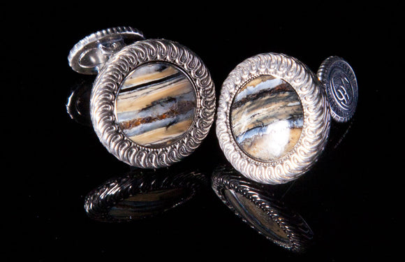 William Henry Woolly Mammoth Cufflinks