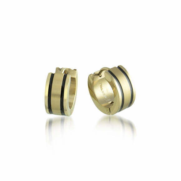 ITALGEM TWO STRIPE EARRINGS