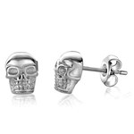ITALGEM STEEL SKULL EARRINGS