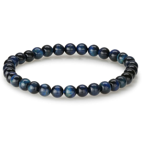 ITALGEM BLUE TIGER EYE BEADED BRACELET