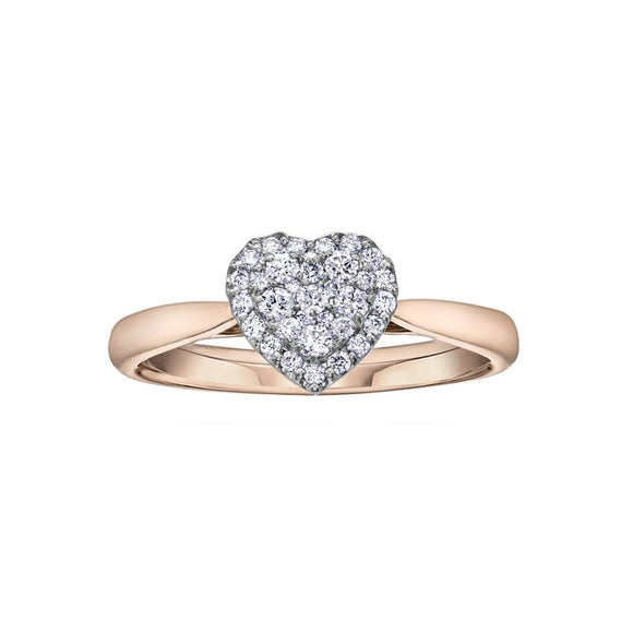 Promise Rings - Lasting Treasures Diamond Heart Ring