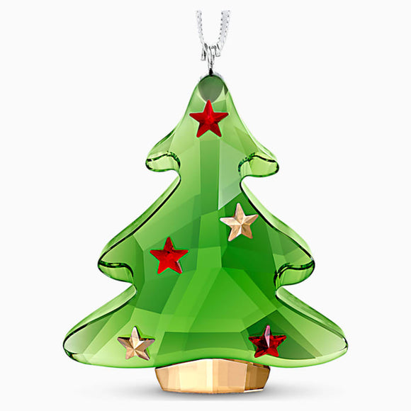 SWAROVSKI GREEN CHRISTMAS TREE ORNAMENT