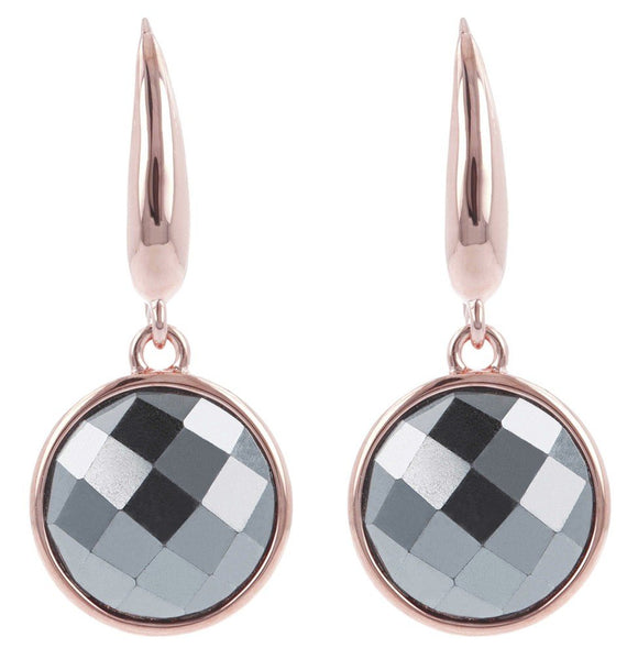 Bronzallure - Hematite Drop Earrings