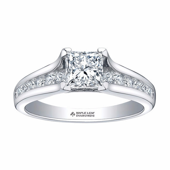 Maple Leaf Diamond Engagement Ring