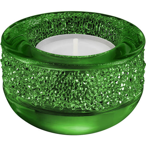 SWAROVSKI - SHIMMER TEA LIGHT, GREEN