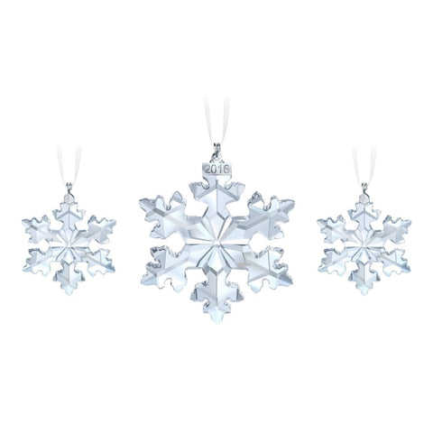 SWAROVSKI - CHRISTMAS ORNAMENT SET, ANNUAL EDITION 2016