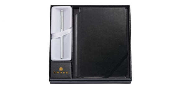Cross Classic Century Chrome Rollerball Pen with Medium Classic Black Journal