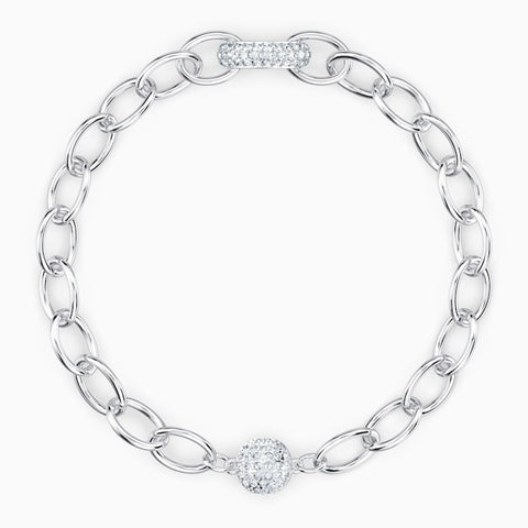 SWAROVSKI THE ELEMENTS CHAIN BRACELET, WHITE