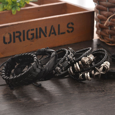 5 Piece Bracelet 6pcs 1 - Cradle Of Goth