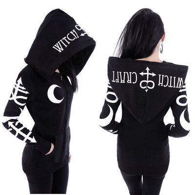 Moon witch hoodie (plus sizes available)  - Cradle Of Goth
