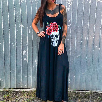 Skull Love Dress  - Cradle Of Goth