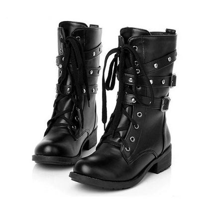 Motorcycle Boots (Handmade and Vegan)  - Cradle Of Goth