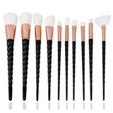 Unicorn Makeup Brushes Set (10 pieces, Vegan) 07 - Cradle Of Goth